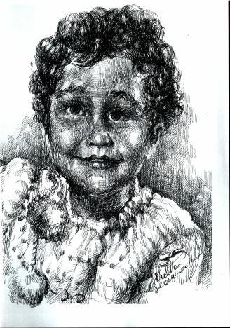 Ingerii din jurul nostru Candoare de copil - Violeta Lecca balan (tus negru, pe hartie)